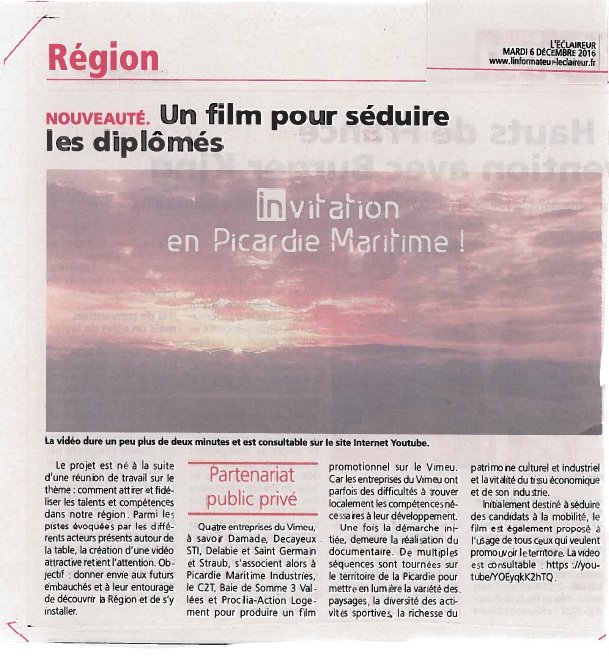 Article Eclaireur Film IPM 06122016
